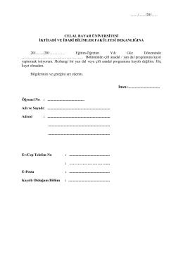 üniversite içi yatay geçiş başvuru formu