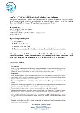 Üyelik Hakkında - Açık Veri Gazeticileri Derneği Açık Veri