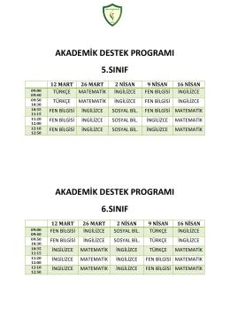 Akademik Destek Programı