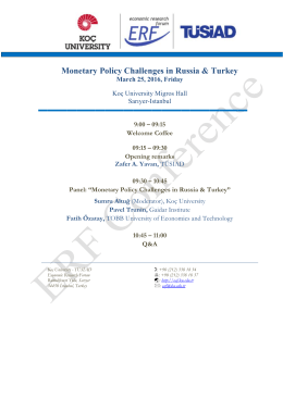 Monetary Policy Challenges in Russia & Turkey