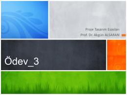 Ödev_3 - Prof.Dr Akgün Alsaran