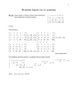 UBYO 121 –Problemler 2