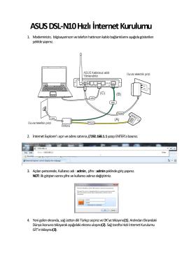 ASUS DSL-N10 Hızlı İnternet Kurulumu