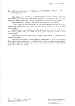 Aday Öğretmenlerden Sözlü Sınava Katılacakların Listesi 16.03