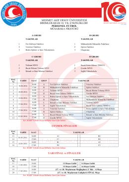 personel futbol - Mehmet Akif Ersoy Üniversitesi