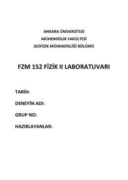 fzm 152 fizik ıı laboratuvarı