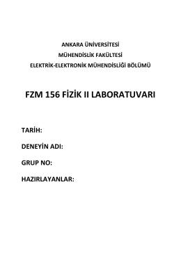 fzm 156 fizik ıı laboratuvarı