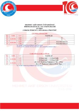 Öğrenci Futbol (Erkek 2) - Mehmet Akif Ersoy Üniversitesi