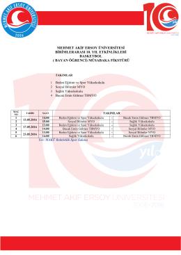 Öğrenci Basketbol - Mehmet Akif Ersoy Üniversitesi