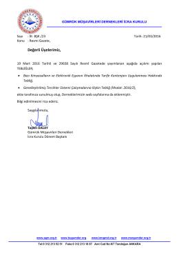 2016.03.21 İK-BŞK-23 İcra Kurulu ortak duyurusu – 19 Mart Resmi