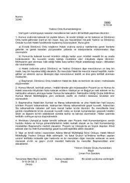 Numro 3/248 Haleb 9-10-34 Yedinci Ordu Kumandanlığına Vaz`iyyet