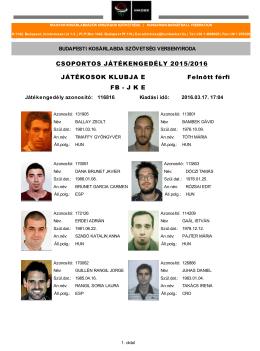 Megtekintés - Budapesti Kosárlabdázók Szövetsége