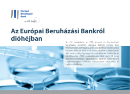 Az Európai Beruházási Bankról dióhéjban