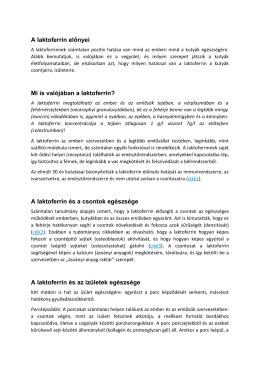 A laktoferrin előnyei, letölthető pdf - Neo-K9