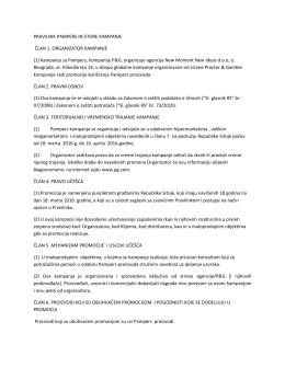 Serbia - Pampers In store promocija pravilnik 18