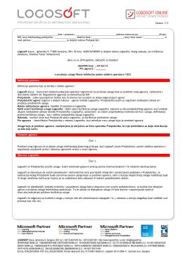 Primjerak korisničkog ugovora