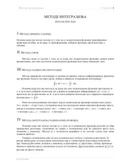 Metode integraljenja