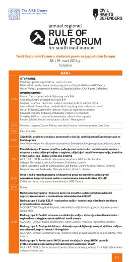 Treći Regionalni Forum o vladavini prava za jugoistočnu Evropu 18