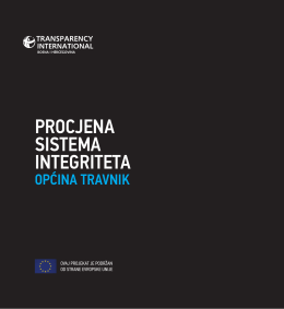 procjena sistema integriteta - Transparency International B&H