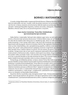 Giljermo Martines: BORHES I MATEMATIKA