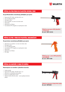 189115210 18911520 1891852 Pištolji za Pur-Pene i Kartuše