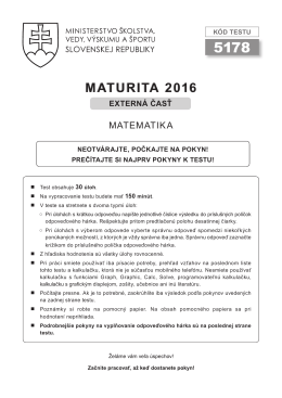 Test EČ MS 2016 - matematika