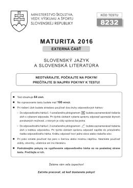 Slovenský jazyk a slovenská literatúra