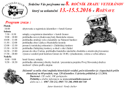 Program zrazu :