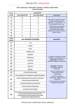 OFICIÁLNY kľúč správnych odpovedí k EČ MS 2016