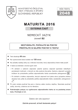 maturita 2016