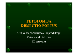 fetotomija dissectio foetus - Veterinarski fakultet Sveučilišta u Zagrebu