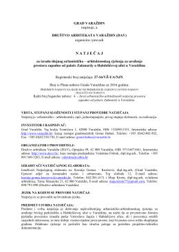 Oglas o raspisu - Grad Varaždin