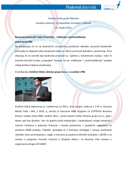 Poslovni uzlet grada Šibenika Gradska vijećnica, Trg Republike