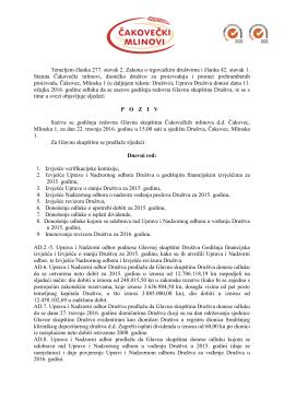 Temeljem članka 277. stavak 2. Zakona o trgovačkim