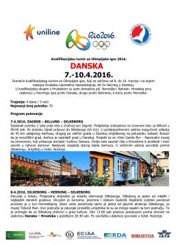 Kvalifikacijsku turnir za Olimpijske igre 2016GARANTIRANI