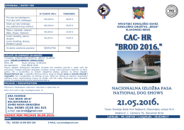 21.05.2016. informacije - HKS-a