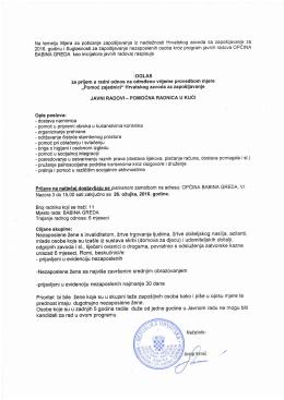 Oglas - Općina Babina Greda