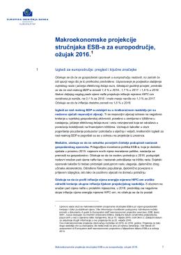 Makroekonomske projekcije stručnjaka ESB-a za