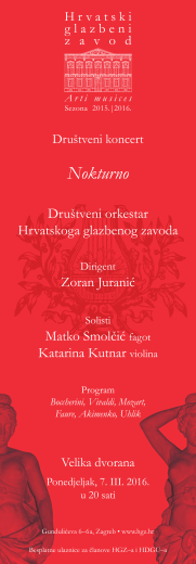 Nokturno - Hrvatski glazbeni zavod