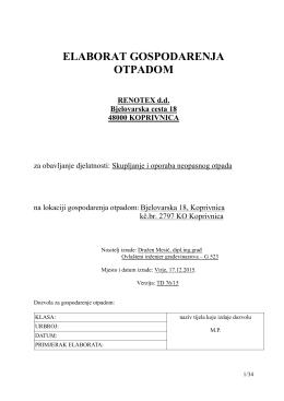Elaborat GO - Koprivničko