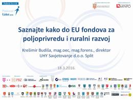 Budiša_UHY_EU fondovi za poljoprivredu i ruralni razvoj