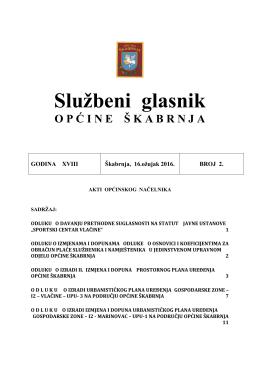 Službeni Glasnik Općine Škabrnja – Godina XVIII