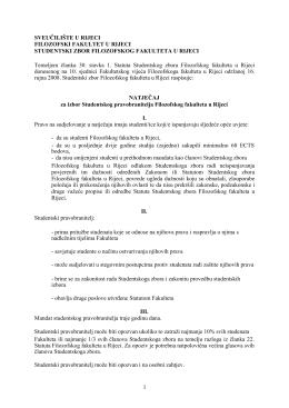 za izbor Studentskog pravobranitelja Filozofskog