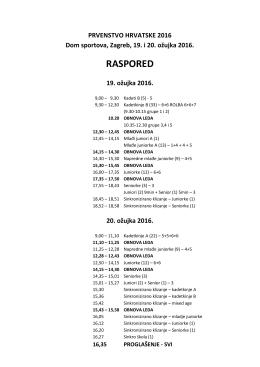 Raspored natjecanja