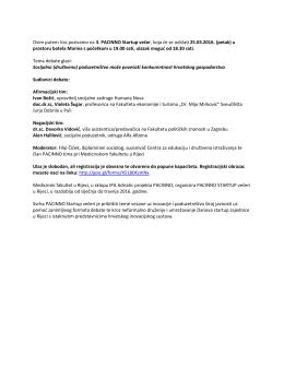 Poziv 3.Pacinno - Medicinski fakultet Sveučilišta u Rijeci