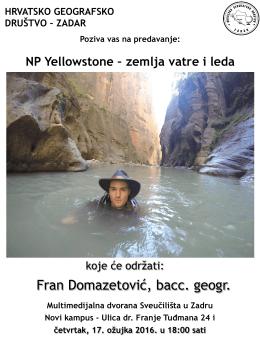 HRVATSKO GEOGRAFSKO DRUŠTVO – ZADAR i ZAJEDNICA