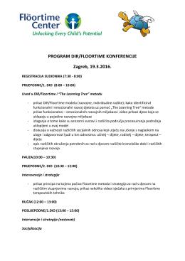 Info letak - GREENSPAN FLOORTIME KONFERENCIJA Zagreb