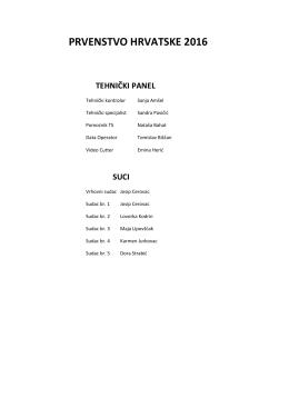 prvenstvo hrvatske 2016 tehnički panel