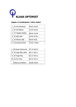 Kriterij za Optimiste - HJS-a