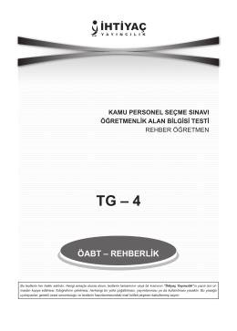 TG – 4 - İhtiyacinne